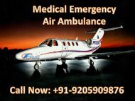 Get Low-Cost Air Ambulance Services in Visakhapatnam by Falcon Emergency