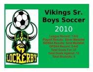 Vikings Sr Vikings Sr. Boys Soccer y - Lockerby Composite School