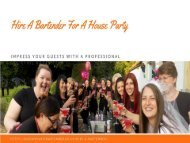 Hire a bartender for a house party