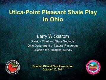Utica-Point Pleasant Shale Play in Ohio - Communications Elizabeth ...