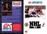 nhl hockey '94 sega - NHL '94.com