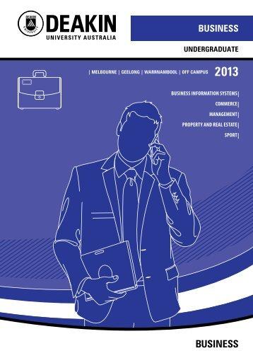 Undergraduate Business Courses 2013 - Deakin University