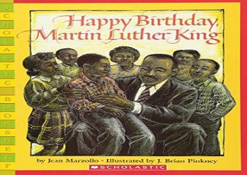 [+][PDF] TOP TREND Happy Birthday, Martin Luther King Jr. (Scholastic Bookshelf)  [READ]