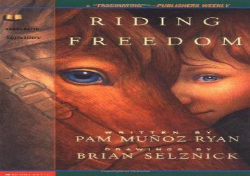 [+]The best book of the month Riding Freedom (Scholastic Signature)  [READ]