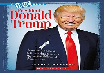 [+][PDF] TOP TREND President Donald Trump (True Bookbiographies)  [READ]