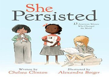 [+]The best book of the month She Persisted: 13 American Women Who Changed the World  [NEWS]