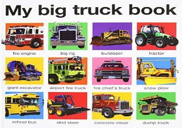 [+]The best book of the month My Big Truck Book (My Big Board Books)  [FULL]