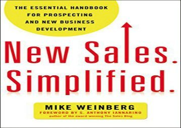 [+]The best book of the month New Sales. Simplified: The Essential Handbook for Prospecting and New Business Development  [NEWS]