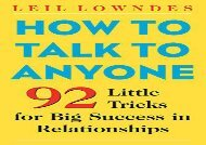 [+]The best book of the month How to Talk to Anyone: 92 Little Tricks for Big Success in Relationships  [READ]