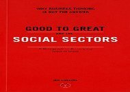[+]The best book of the month Good to Great and the Social Sectors: Why Business Thinking is Not the Answer  [NEWS]