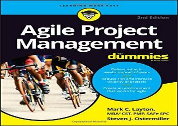 [+][PDF] TOP TREND Agile Project Management For Dummies (For Dummies (Computer/Tech))  [DOWNLOAD]