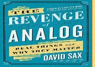 [+][PDF] TOP TREND The Revenge of Analog: Real Things and Why They Matter  [NEWS]