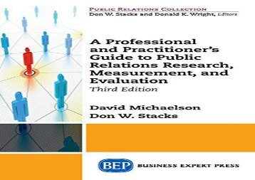 [+][PDF] TOP TREND A Professional and Practitioner s Guide to Public Relations Research, Measurement, and Evaluation, Third Edition  [READ]
