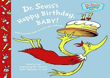 [+][PDF] TOP TREND Dr. Seuss s Happy Birthday, Baby! (Dr. Seuss Nursery Collection)  [FULL]
