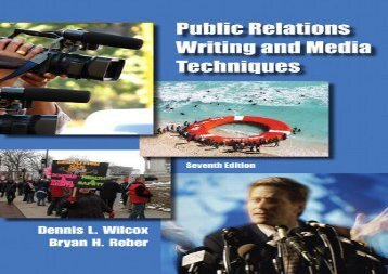 [+]The best book of the month Public Relations Writing and Media Techniques  [FULL]