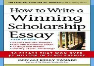 [+]The best book of the month How to Write a Winning Scholarship Essay: 30 Essays That Won Over 3 Million in Scholarships  [FULL]