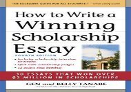 [+]The best book of the month HOW TO WRITE A WINNING SCHOLARSHIP ESSAY  [DOWNLOAD]