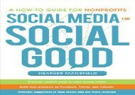 [+]The best book of the month Social Media for Social Good: A How-to Guide for Nonprofits  [FREE]