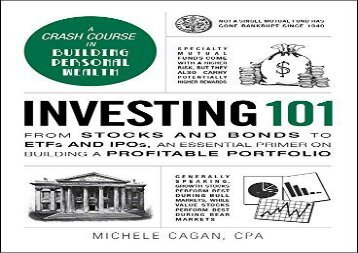 [+]The best book of the month Investing 101: From stocks and bonds to ETFs and IPOs, an essential primer on building a profitable portfolio (Adams 101)  [NEWS]