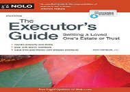 [+][PDF] TOP TREND The Executor s Guide: Settling a Loved One s Estate or Trust  [DOWNLOAD]