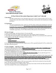NJ Coed Sports (NJCS) Official 6v6 Indoor Volleyball Rules