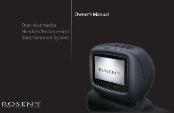 Owner's Manual - Rosen Entertainment Systems