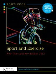 You can now follow Routledge Sport on