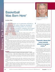 Basketball Was Born Here® - Springfield College