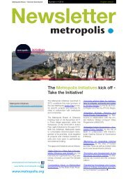 The Metropolis Initiatives kick off - Take the Initiative!