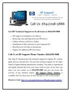 HP Support Number 1-844-298-5888 - Page 2