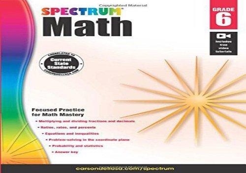 The best book of the month Spectrum Math Workbook, Grade 6 [PDF]