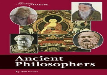 [+]The best book of the month Ancient Philosophers (History Makers (Lucent))  [DOWNLOAD]