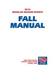 2012 Fall Sports Manual - Iowa High School Athletic Association
