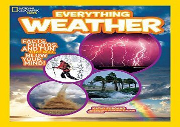[+][PDF] TOP TREND Everything Weather: Facts, Photos, and Fun that Will Blow You Away (Everything)  [READ]