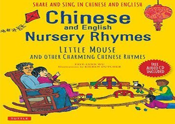 The Best Book Of Month Chinese And English Nursery Rhymes Little