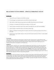BJES Dodgeball Rules - Bo Jackson's Elite Sports