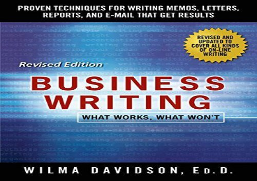 business writing for dummies free pdf