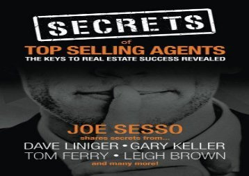 [+][PDF] TOP TREND Secrets of Top Selling Agents: The Keys To Real Estate Success Revealed  [READ]