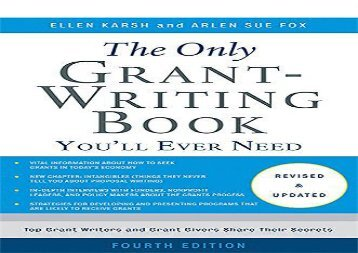 [+][PDF] TOP TREND The Only Grant-Writing Book You ll Ever Need  [FREE]