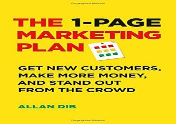 [+][PDF] TOP TREND The 1-Page Marketing Plan: Get New Customers, Make More Money, And Stand out From The Crowd [PDF]