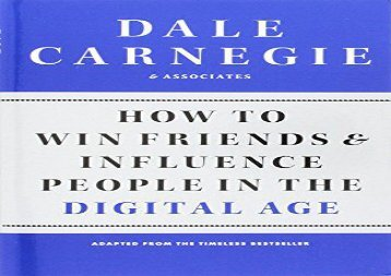 [+][PDF] TOP TREND How to Win Friends and Influence People in the Digital Age [PDF]