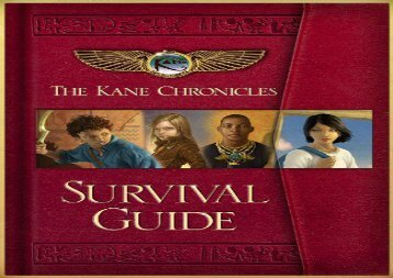 [+][PDF] TOP TREND The Kane Chronicles Survival Guide  [DOWNLOAD]