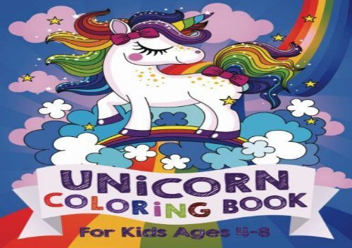 Unicorn Coloring Book For Kids Ages 4-8 US Edition