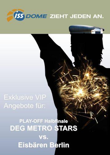 Exklusive VIP Angebote für: DEG METRO STARS vs. Eisbären Berlin
