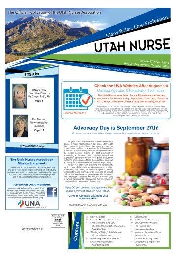 Utah Nurse - August 2018