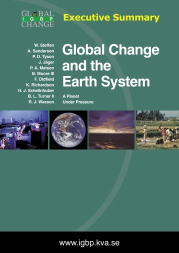 Global Change and the Earth System - Executive Summary - IGBP