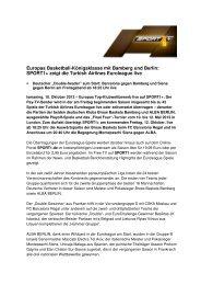 Europas Basketball-Königsklasse mit Bamberg und Berlin ... - Sport1