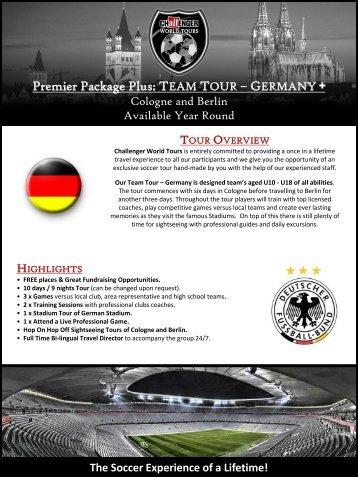 Premier Package Plus: TEAM TOUR ... - Challenger Sports