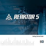Reaktor 5.5 Getting Started - Native Instruments