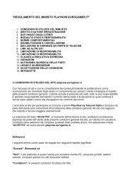Regolamento del minisito - PLAY NOW by Telecom Italia ...